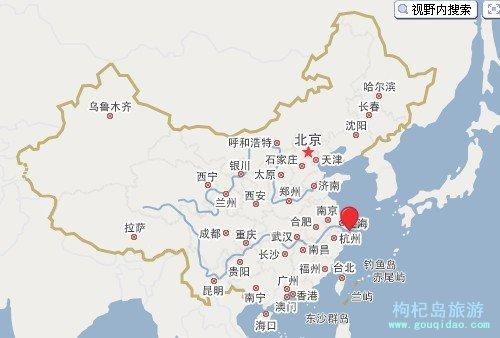 枸杞岛在中国的位置
