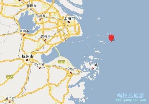 枸杞岛在浙江的位置